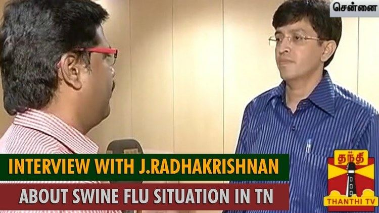 J. Radhakrishnan Interview with J Radhakrishnan about Swine Flu Situation in Tamil