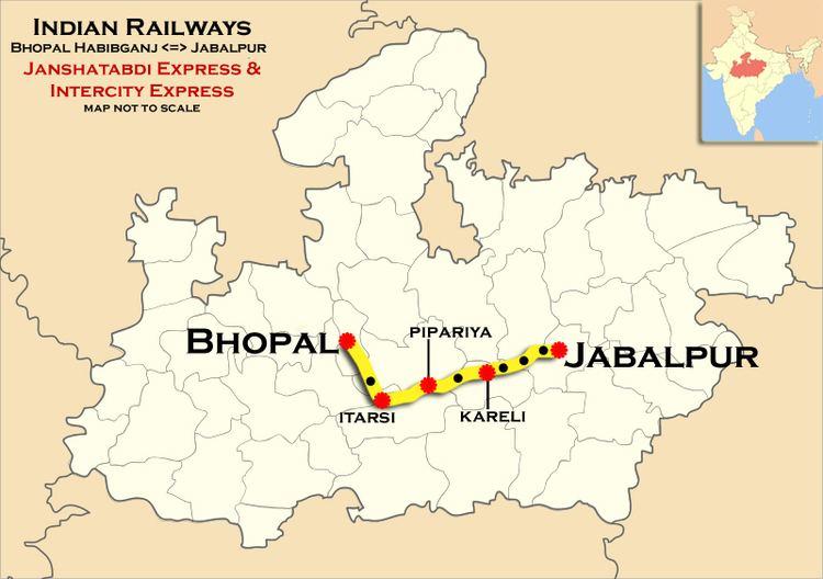 Jabalpur - Habibganj Intercity Express