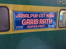 Jabalpur–Mumbai Garibrath Express httpsuploadwikimediaorgwikipediacommonsthu
