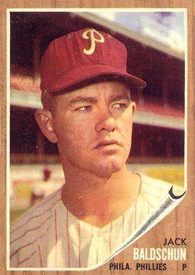 Jack Baldschun 1962 Topps Jack Baldschun 46 Baseball Card Value Price Guide
