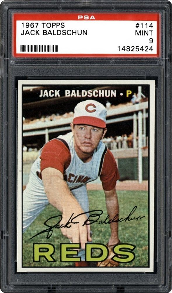 Jack Baldschun 1967 Topps Jack Baldschun PSA CardFacts