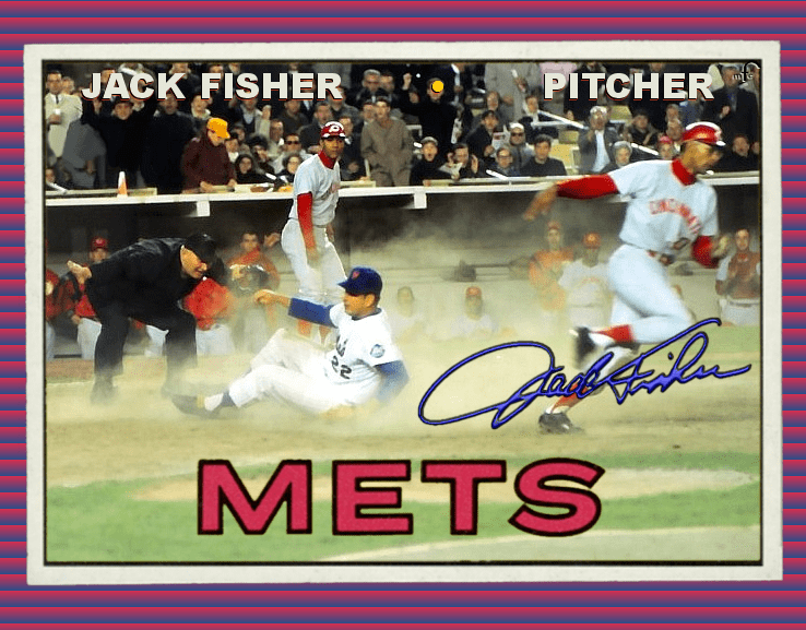 Jack Fisher Mets Baseball Cards Like They Ought To Be 67mfc Jack Fisher John