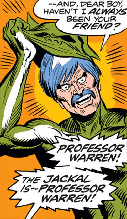 Jackal (Marvel Comics) Jackal I Marvel Comics SpiderMan enemy Miles Warren Profile