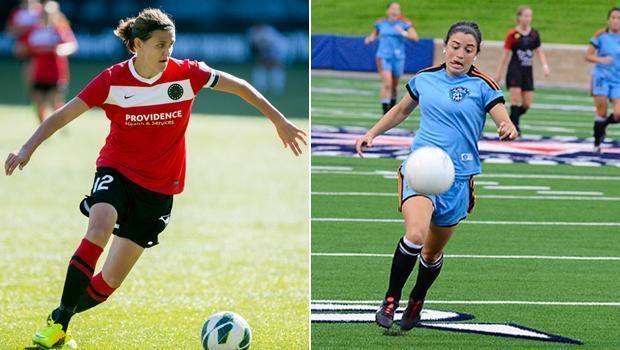 Jackie Acevedo Thorns FC forwards Christine Sinclair Jackie Acevedo receive call