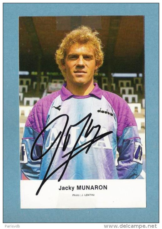 Jacky Munaron VOETBAL Jacky MUNARON AJJA FOTOKAART Handtekening