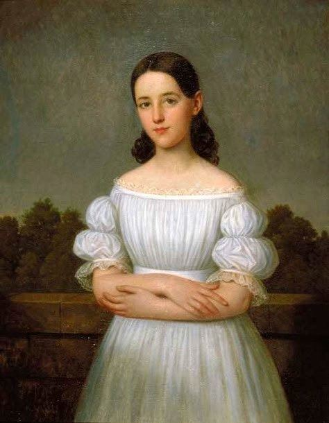 Jacques Amans 19C American Women Louisiana paintings by Frenchborn