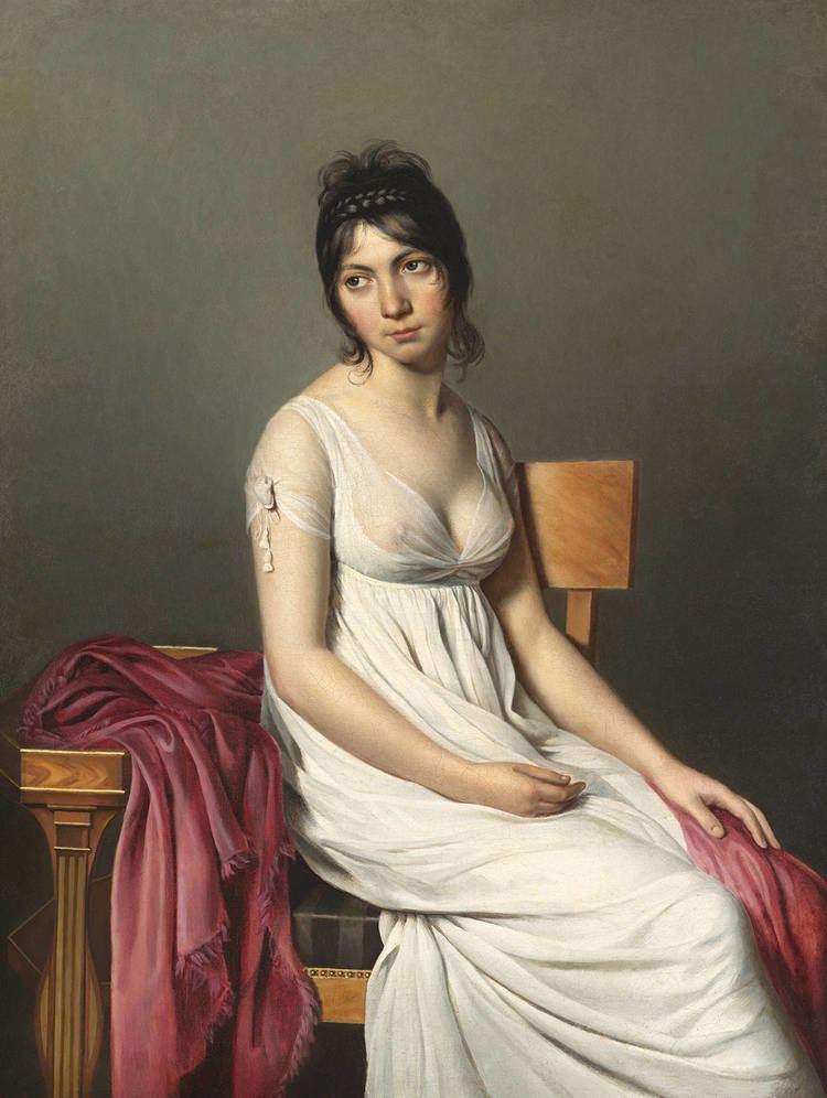 Jacques-Louis David JacquesLouis David Portrait of a Young Woman in White