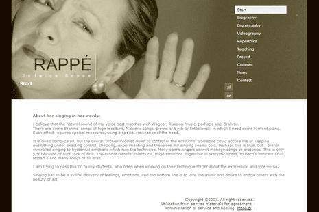 Jadwiga Rappé Jadwiga Rapp Articles Websites and Resources Contralto Corner