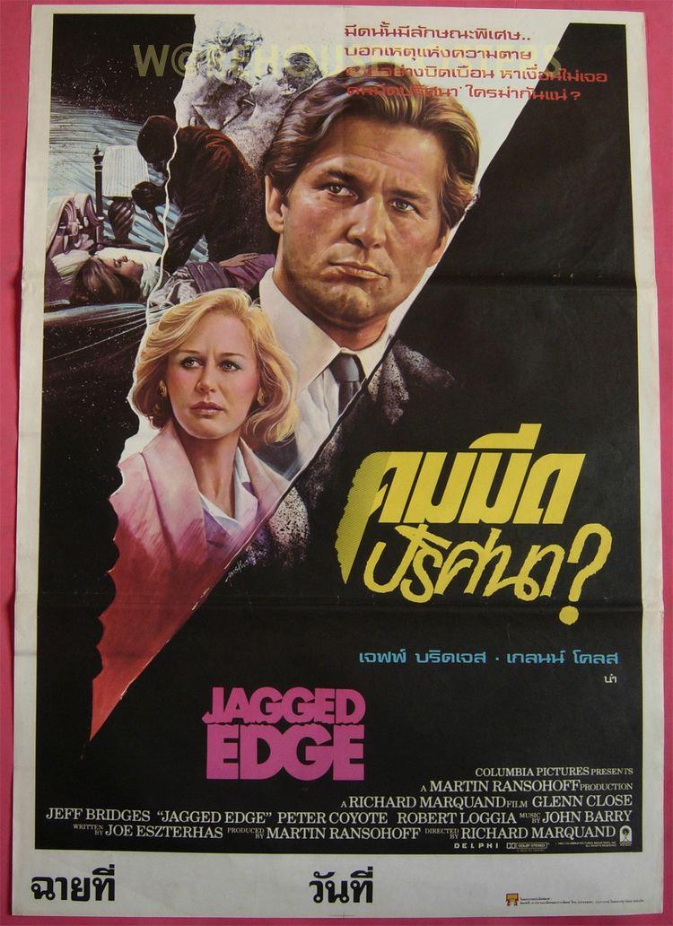 Jagged Edge (film) JAGGED EDGE 1985 Thai Movie Poster Jeff Bridges eBay