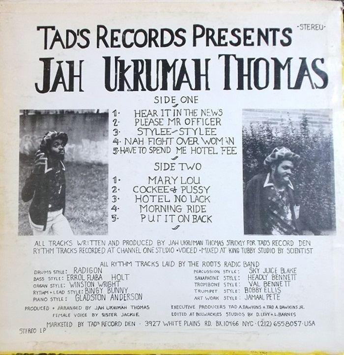 Jah Thomas Jah Thomas Nah Fight Over Woman 1980Reggae Album Covers