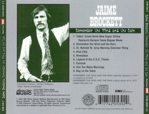 Jaime Brockett Remember the Wind and the Rain Jaime Brockett Songs Reviews