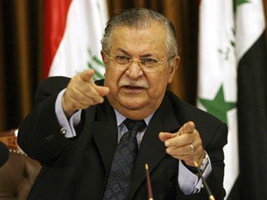 Jalal Talabani Iraq president Jalal Talabani in hospital after stroke
