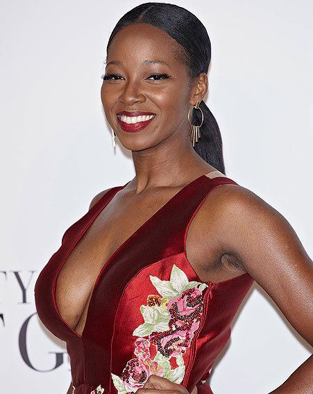 Jamelia EXCLUSIVE Jamelia risks modesty on Fifty Shades red