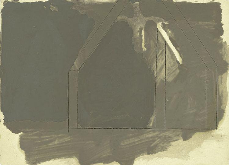 James Bishop (artist) James Bishop Untitled ca 1979 oil on paper Collection of the