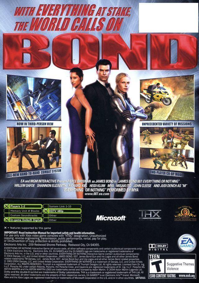 James Bond 007: Everything or Nothing James Bond 007 Everything or Nothing Box Shot for Xbox GameFAQs