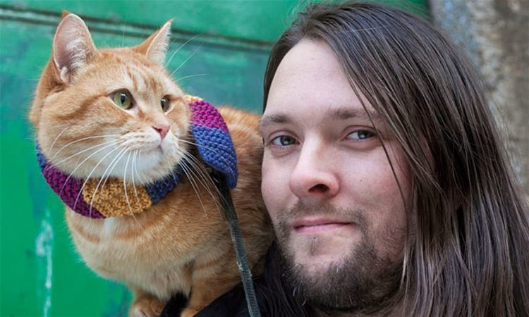 James Bowen (author) James Bowen and Bob the cat 39He39s named after the killer
