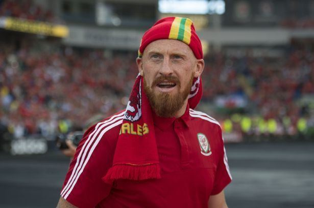 James Collins (footballer, born 1983) Wales footballer James Collins accidentally hits young fan in face