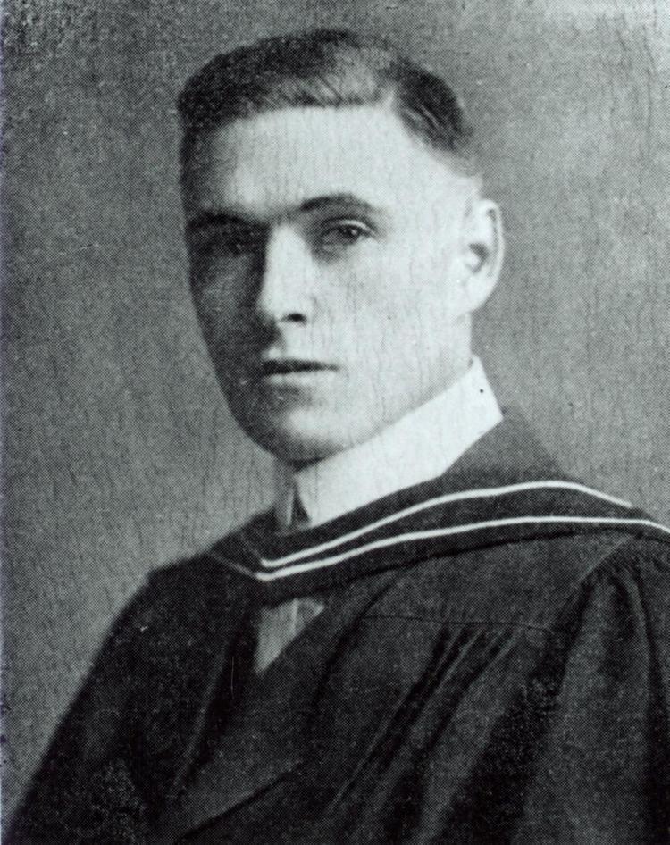 James Collip Photograph of J B Collip in academic hood 1916 Heritage U of T