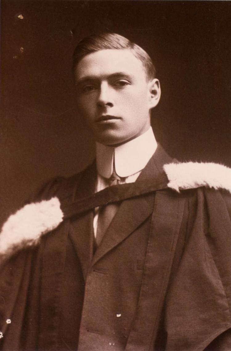 James Collip Graduation photograph of J B Collip 1912 Heritage U of T