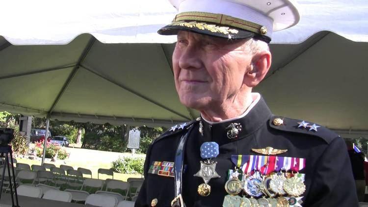 James E. Livingston Medal of Honor recipient Major General Livingston on