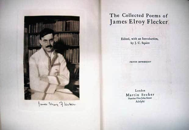James Elroy Flecker I sat down in the evening to readBooks from the Library