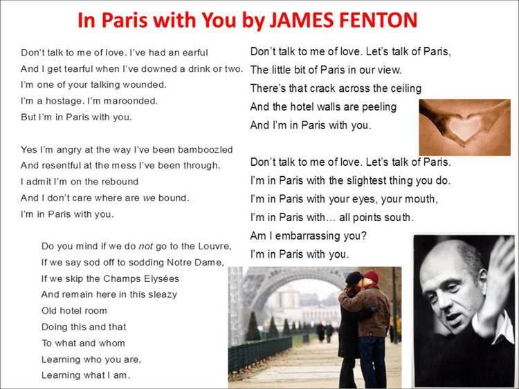 James Fenton In Paris with You read by James Fenton YouTube
