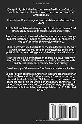 James Ford Rhodes History of the Civil War 18611865 James Ford Rhodes