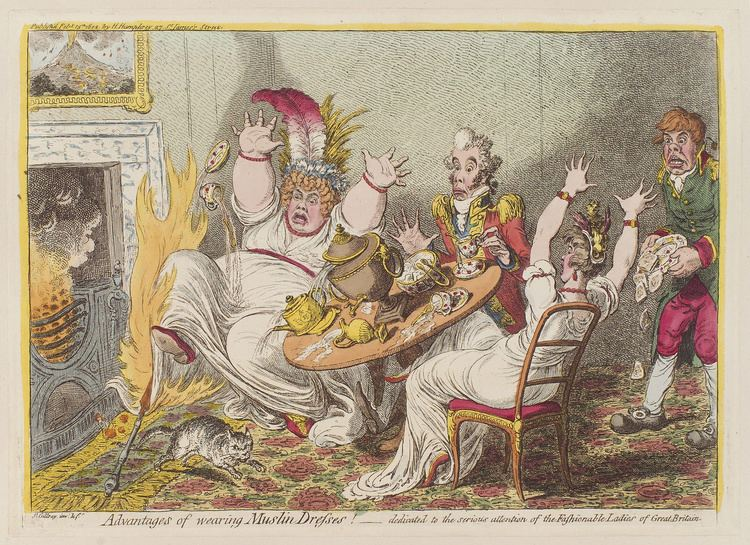 James Gillray FileAdvantages of wearing muslin dresses by James