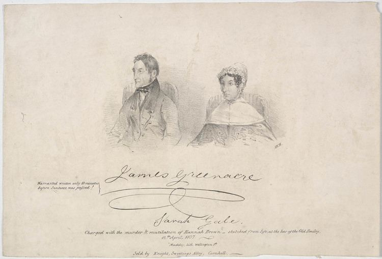 James Greenacre James Greenacre and Sarah Gale 1837 State Library of NSW