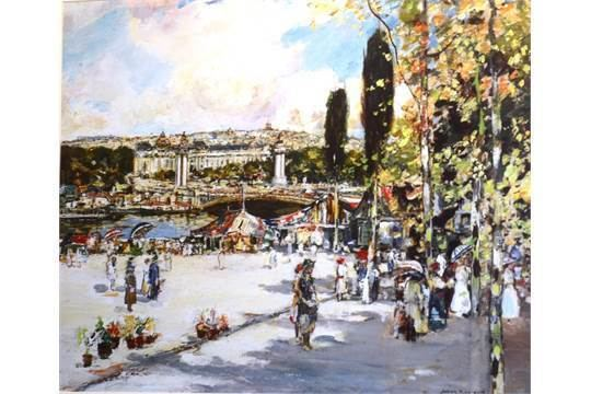 James Kay (artist) After James Kay RSA RSW Scottish 18581962 The Seine at Paris