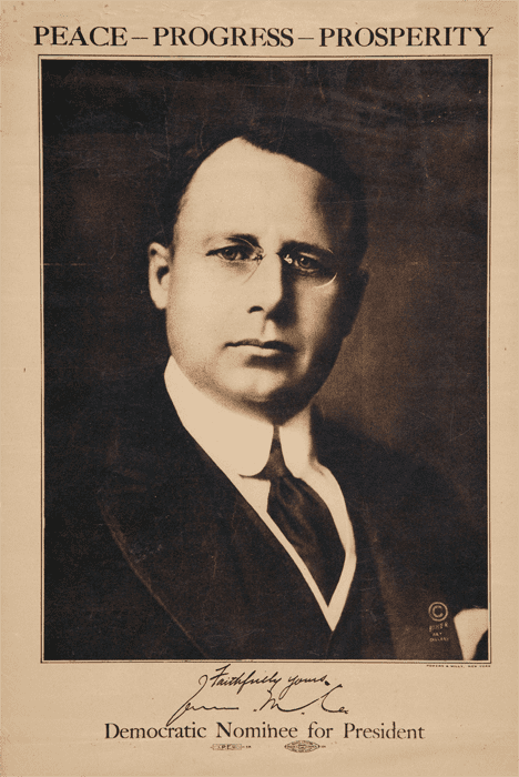 James M. Cox Retro Campaigns James M Cox for President 1920 Peace