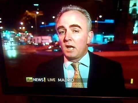 James Mates ITV News James Mates lost for words in Madrid YouTube