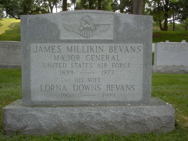 James Millikin Bevans James Millikin Bevans Major General United States Air Force