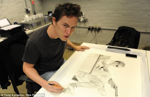 James Mylne (artist) Audrey Hepburn as you39ve never seen her before Bic biro