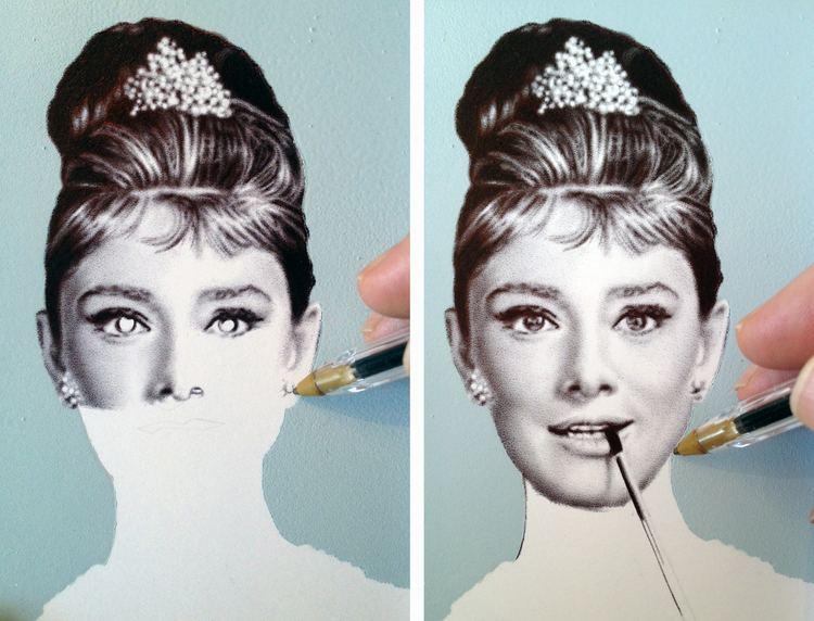 James Mylne (artist) New Audrey Hepburn Artwork James Mylne Art Blog