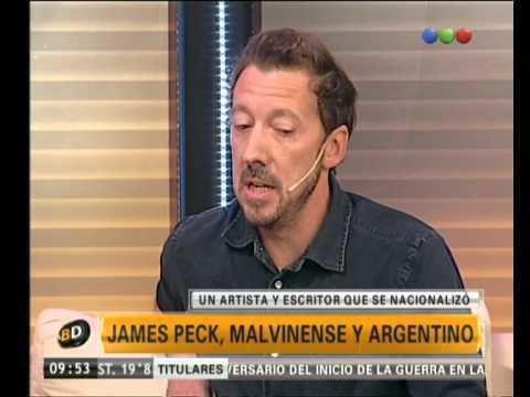 James Peck (pacifist) James Peck malvinense y argentinoTelefe Noticias YouTube