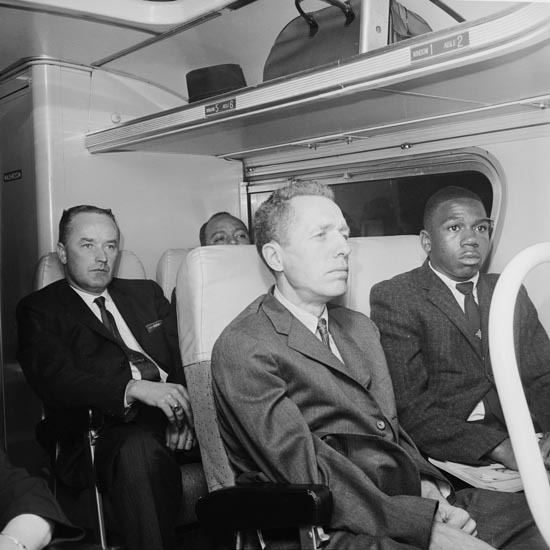 James Peck (pacifist) Freedom Riders James Peck and Charles Person during one of the Rides