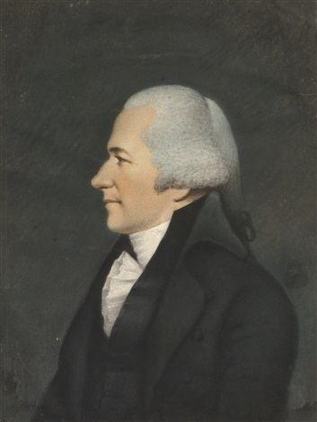 James Sharples Profile portrait of Alexander Hamilton by James Sharples on artnet