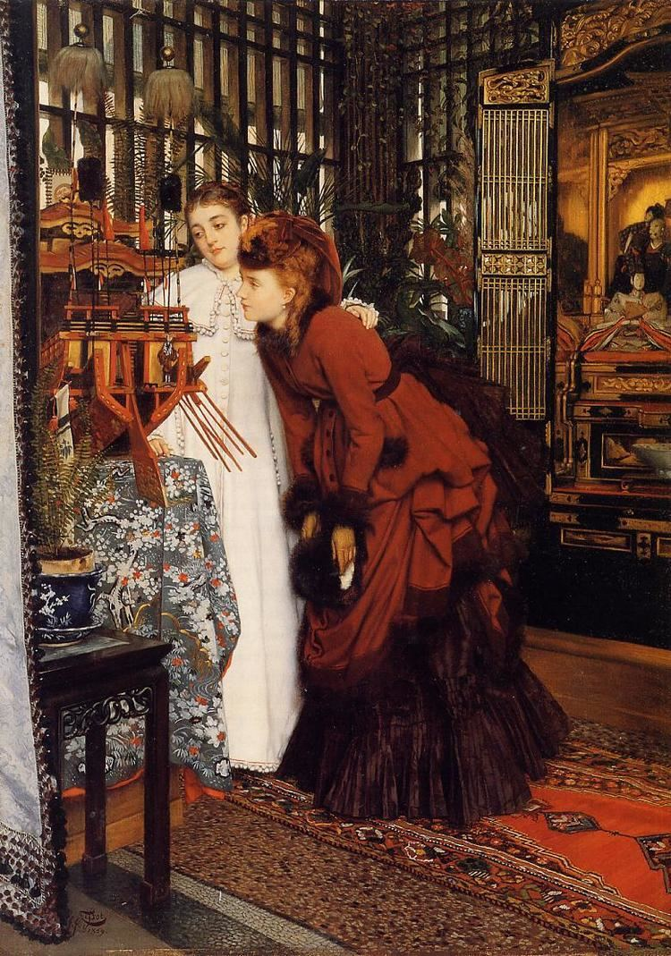 James Tissot Young Ladies Looking at Japanese Objects James Tissot