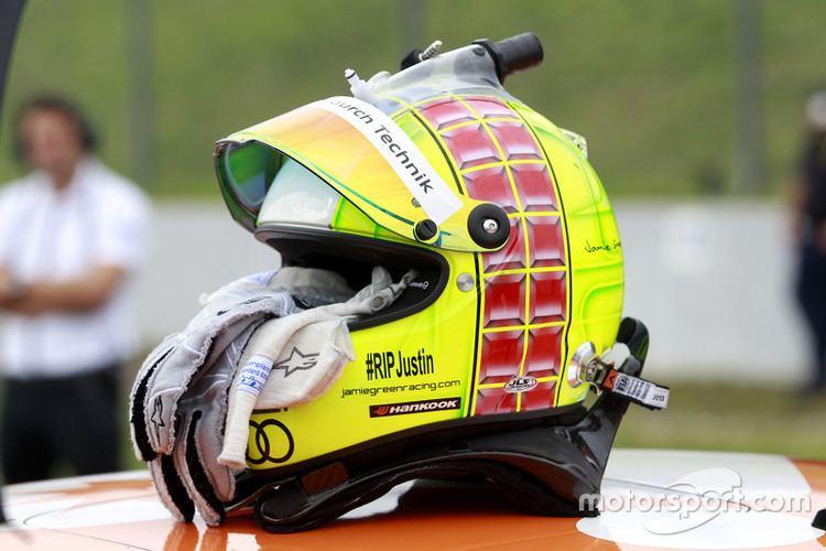 Jamie Green Helmet of Jamie Green Audi Sport Team Rosberg Audi RS 5 DTM at
