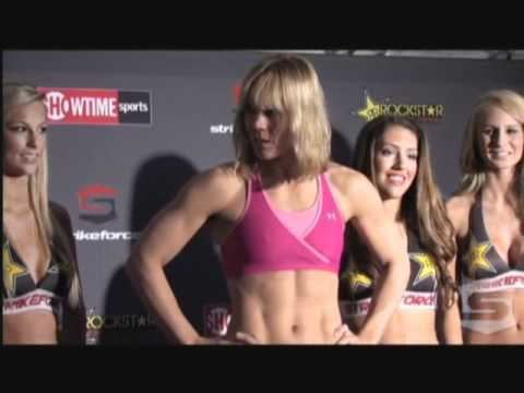 Jan Finney Jan Finney vs Liz Carmouche Strikeforce WeighIns MMA Video