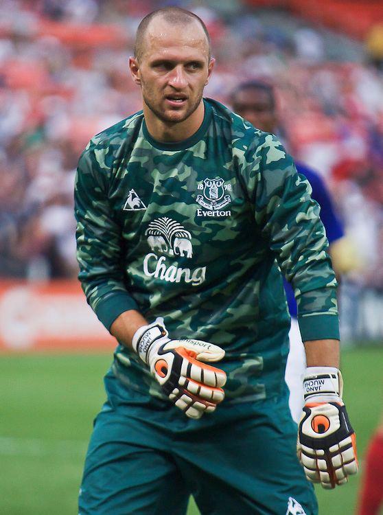 Jan Mucha Everton Keeper Jan Mucha 1 during MLS International