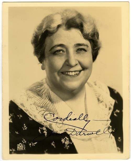 Jane Darwell Jane Darwell Autographed Photo Actress Autographs