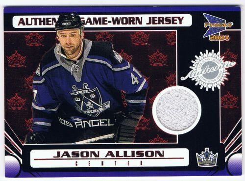 Jason Allison Game Used Memorabilia Cards RK Sports Promotions