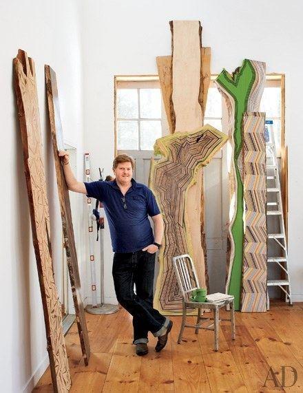 Jason Middlebrook Jason Middlebrooks Captivating Wood Paintings Architectural Digest