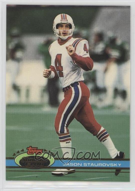 Jason Staurovsky 1991 Topps Stadium Club Base 17 Jason Staurovsky COMC Card