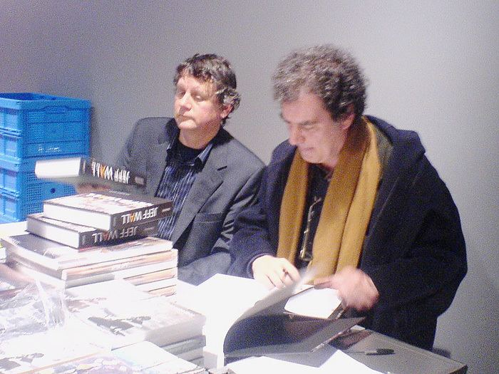 Jean-François Chevrier FileJeff Wall and Jean Francois Chevrier 28 nov 07JPG Wikimedia