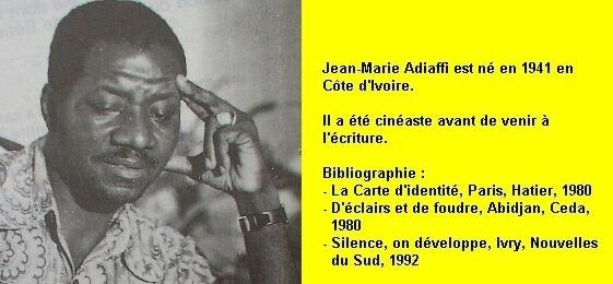 Jean-Marie Adiaffi La carte didentit de JeanMarie ADIAFFI les question