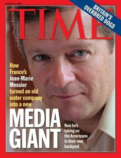 Jean-Marie Messier TIME Magazine Cover JeanMarie Messier Aug 6 2001