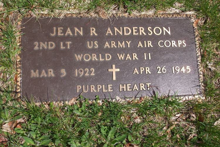 Jean R. Anderson Jean R Anderson 1922 1945 Find A Grave Memorial